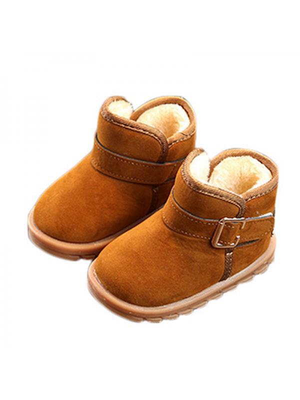 Gotd Baby Toddler Infant Girls Snow Boots Soft Sole Prewalker Crib Shoes
