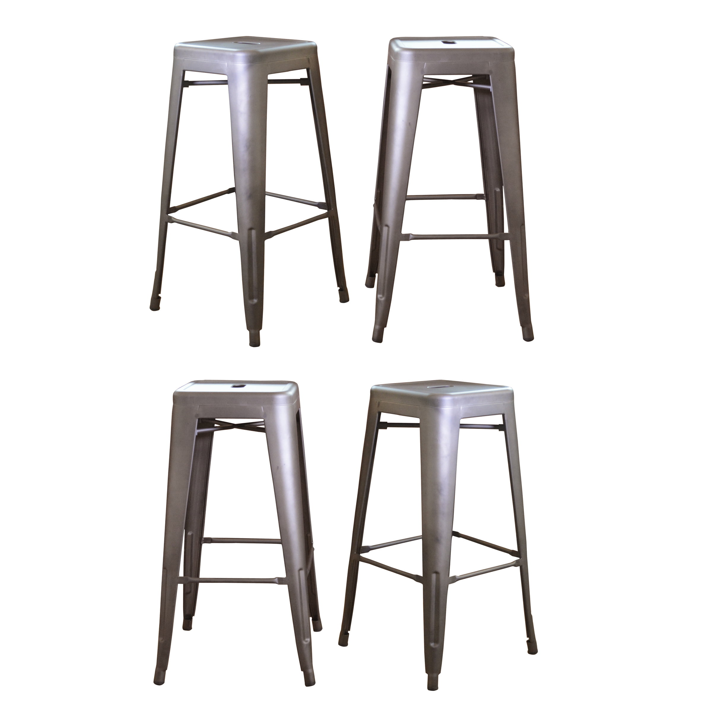 Outstanding Amerihome Loft Black 18 Metal Bar Stool Blue Set Of 4 Squirreltailoven Fun Painted Chair Ideas Images Squirreltailovenorg