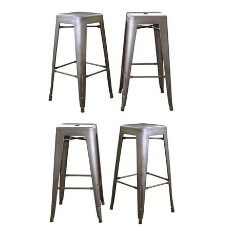 Metal Antique Bar Stools - AmeriHome Loft Metal 30