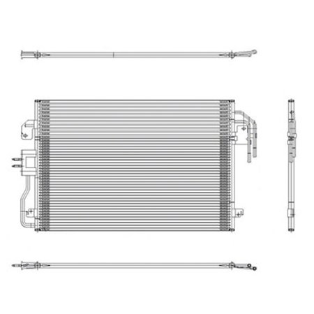 Air Conditioning Condenser For Ford Escape Mercury Mariner Fo3030222