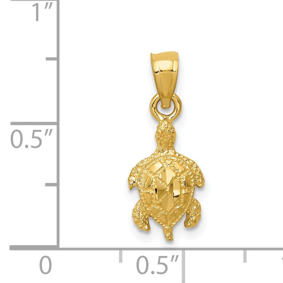 14K Yellow Gold Turtle Pendant - image 1 de 2