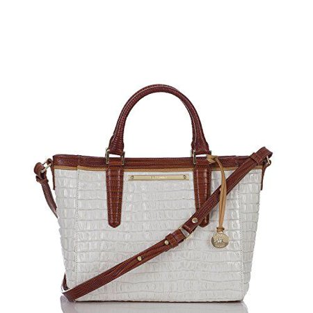 Brahmin Mini Arno in Pecan Melbourne Croco Embossed Leather ()