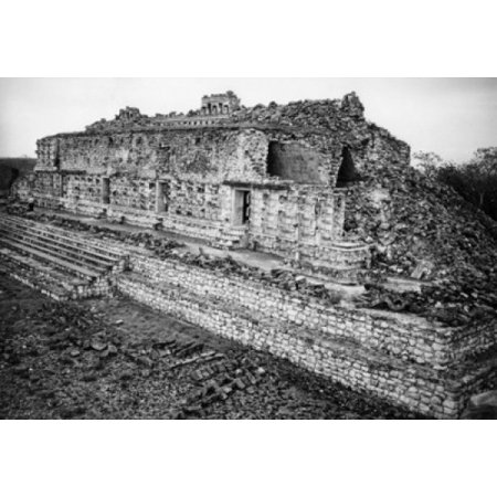 Temple of the Masks Kabah (Mayan) Mexico Canvas Art - (24 x 36 ...