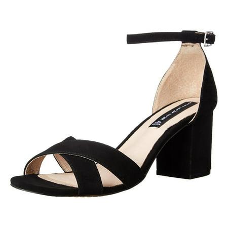 Steven Womens Voomme Black Suede Open Toe Heels Size 7.5 New ()