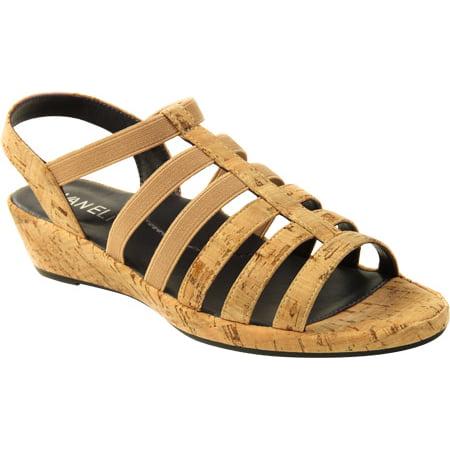 vaneli women's darena natural cork/match elastic sandal 9 w -