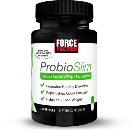 Force Factor Probioslim Probiotic Supplement Weight Loss Capsules 30ct