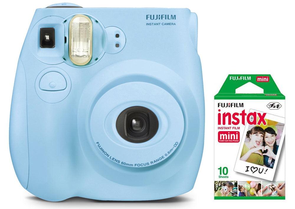 Fujifilm Instax Mini 7s Instant Camera With 10 Pack Film Light Blue