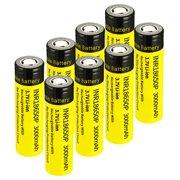 EBL 8-Pack INR 18650 3000mAh 25R High Drain Flat Top Li-ion Rechargeable Batteries