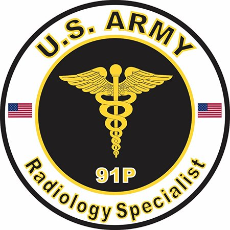 US Army MOS 91P Radiology Specialist 38 Inch Decal