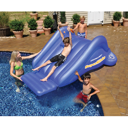 Swimline 90809 Super Water Slide Swimming Pool Inflatable Toy Kids Summer Fun