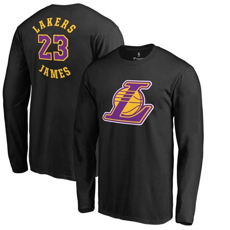 LeBron James Los Angeles Lakers Fanatics Branded Round About Name & Number Long Sleeve T-Shirt -