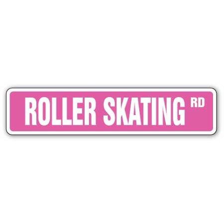 Roller Skating Street [3 Pack] of Vinyl Decal Stickers | Indoor/Outdoor | Funny decoration for Laptop, Car, Garage , Bedroom, Offices | SignMission - Roller Skating Decorations
