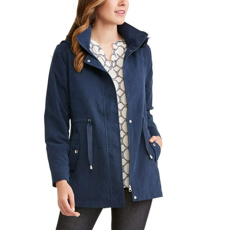 - Time and Tru Women's Hooded Anorak Utility Jacket