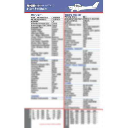 FlightCheck Checklist - Piper Seminole PA-44-180