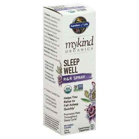 Garden of Life MyKind Organics, Sleep Well, R&R Spray, 2 fl oz (58 ml) Well Liquid Vitamins
