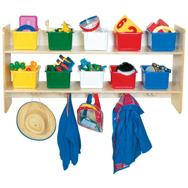 Wood Designs 51403 - Wall Locker And Storage With 10 Assorted Color Trays