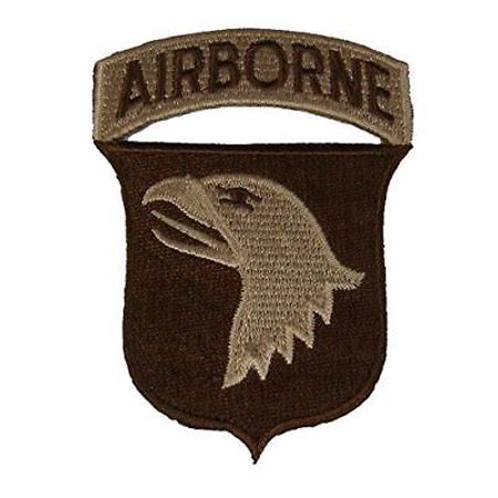 US ARMY 101ST AIRBORNE DIVISION ABD PATCH DESERT TAN SCREAMING EAGLES