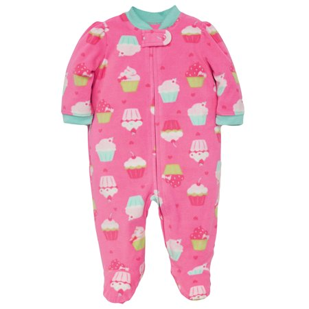 Baby Pajamas Warm Fleece Sleepers Blanket Sleeper With Feet Footie Cupcake Pink 6 Months