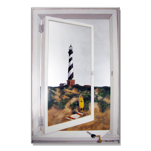 Stupell Industries Cape Hatteras Lighthouse Faux Window Mirror