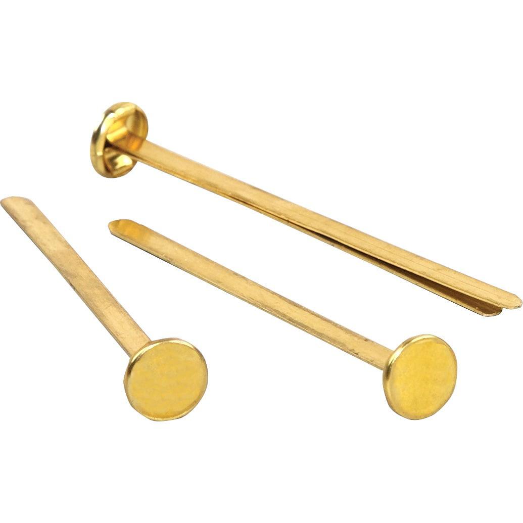 Brass Prong Paper File Fasteners 1-1//4 Long 100 per Box