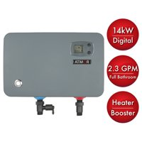 Atmor 14 kW/240-Volt 2.3 GPM Electric Tankless Water Heater, On Demand Water Heater with Self-Modulating Technology