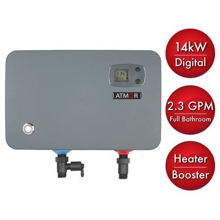 Atmor 14 Kw 240 Volt 2 3 Gpm Electric Tankless Water Heater  On Demand Water Heater With Self Modulating Technology