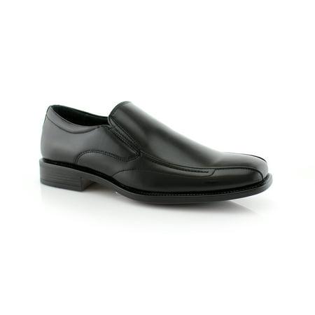 Delli Aldo David M16062PL Black Color Men's Dress Shoes With Slip-on Design For Work or Casual