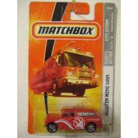 Mattel 2008 MBX City Action 1:64 Scale Die Cast Metal Car # 53 Austin Mini VAN RED,... by