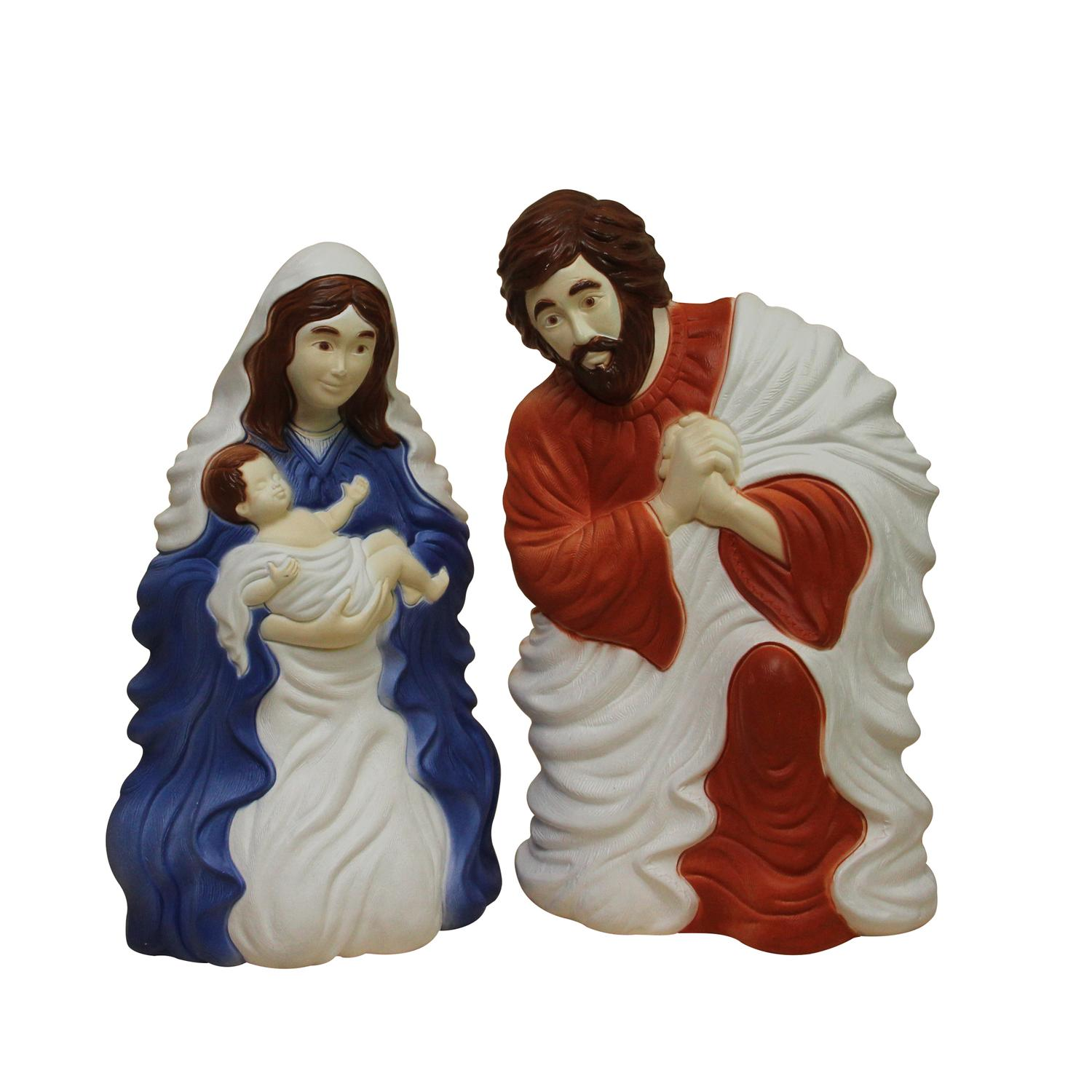 "26.5"" Outdoor Holy Family Lighted Nativity Set"