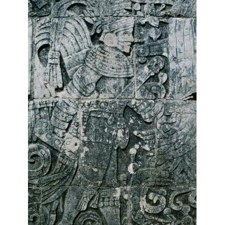 Carving of Human Figure, Main Ball Court, Chichen Itza, Yucatan, Mexico Print Wall Art By Barnett (Best Chichen Itza Tour)