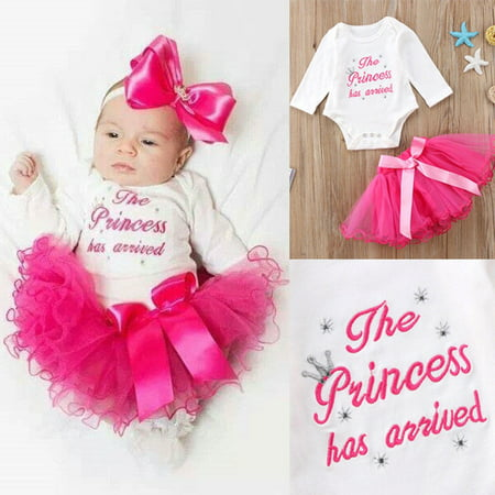 Newborn Kid Baby Girls Tutu Outfits Clothes Romper Bodysuit Playsuit - Girls On Sale