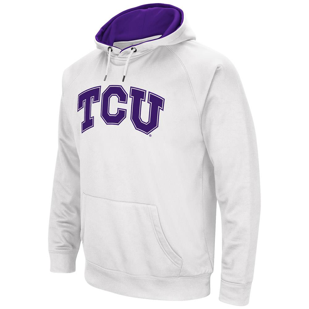 Mens NCAA TCU Horned Frogs Fleece Pull-over Hoodie by Colosseum