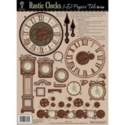 3-D Papier Tole Die-Cuts-Rustic Clocks