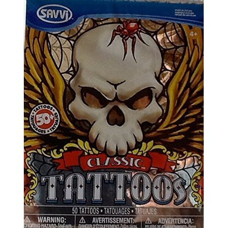 Classic Tattoo ~ Temporary Tattoos 50+ ~ Various Design, The Best Tattoos On The Planet! By Savvi Ship from (The Best Tiger Tattoo Designs)