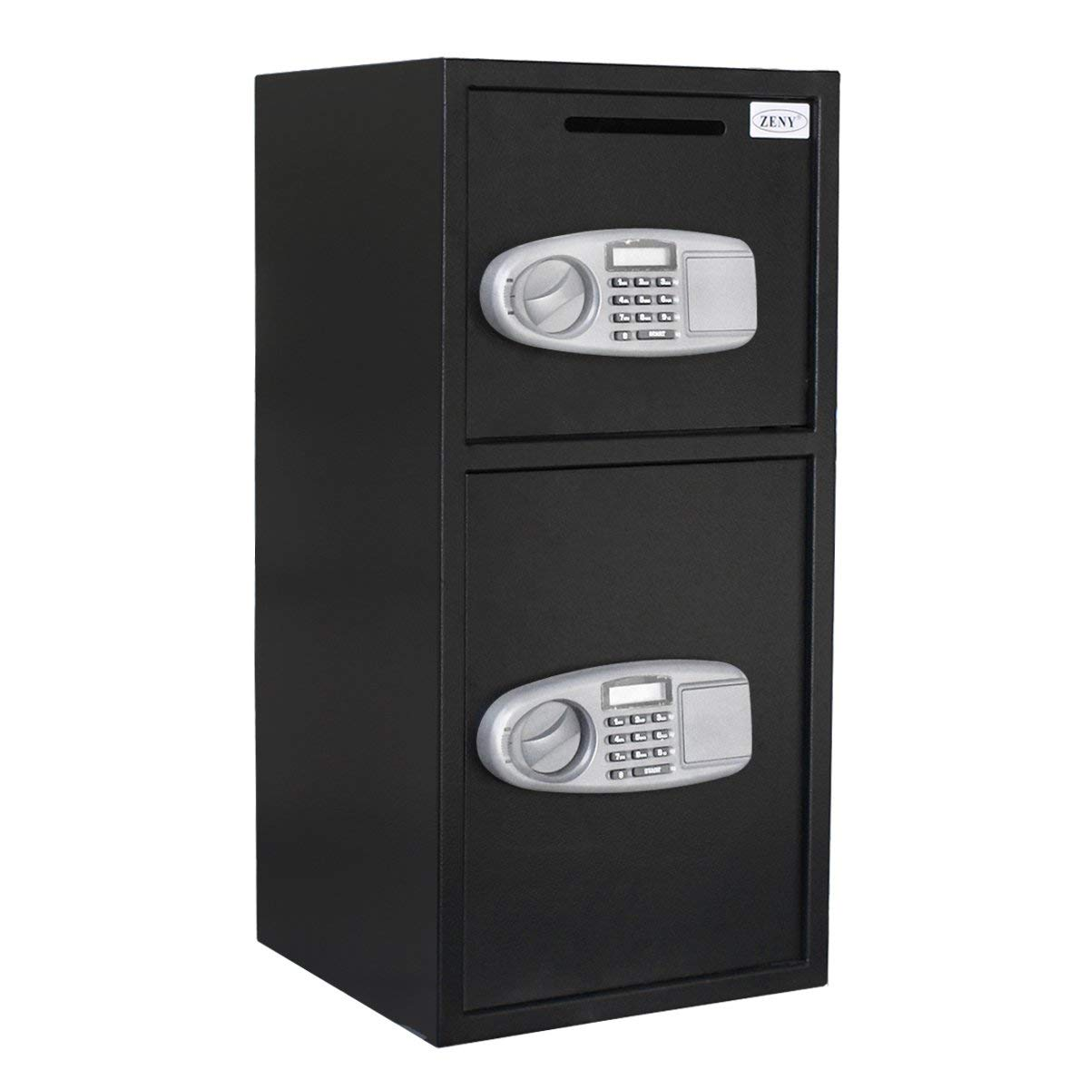 Zeny Zeny  Security Safe Box Double Door Depository Safe Steel Safe Box Digital Drop Safe Depository for Home Office Money Gun Jewelry