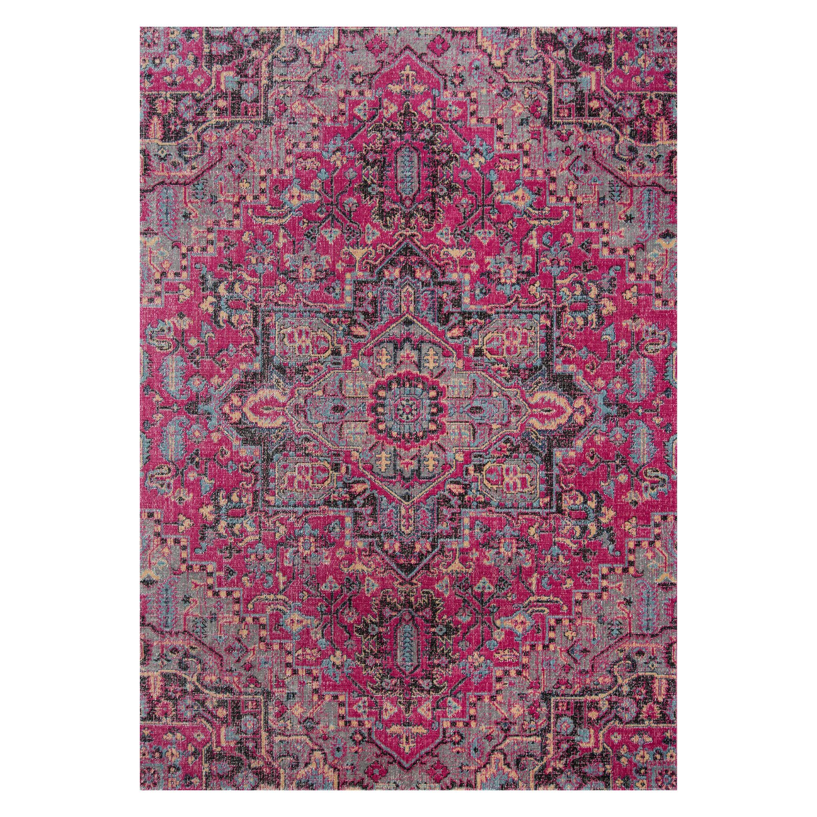 Momeni Jewel Polypropylene Machine Made Pink Area Rug 2' X 3'
