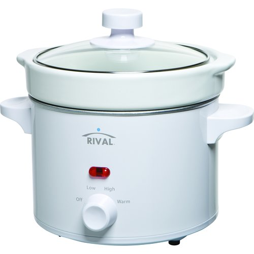 Rival 2-Qt Slow Cooker, White