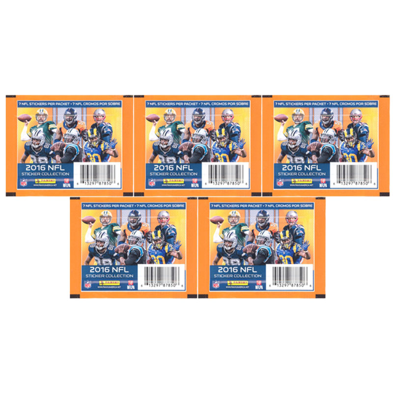 Panini - 2016 NFL Sticker Collection - PACKS (5 Pack Lot - 35 Stickers Total)