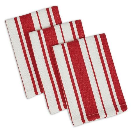 DII Tomato Striped Gourmet Dishcloth (Set of 3), 13x13