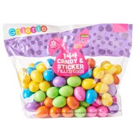 Galerie 144ct Easter Egg Hunt Party Favors with Brach's Jelly Beans & Lemonheads Candy with Stickers