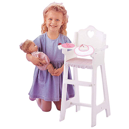 "Badger Basket Doll High Chair With Feeding Accessories - Fits Most 18"" Dolls & My Life As"