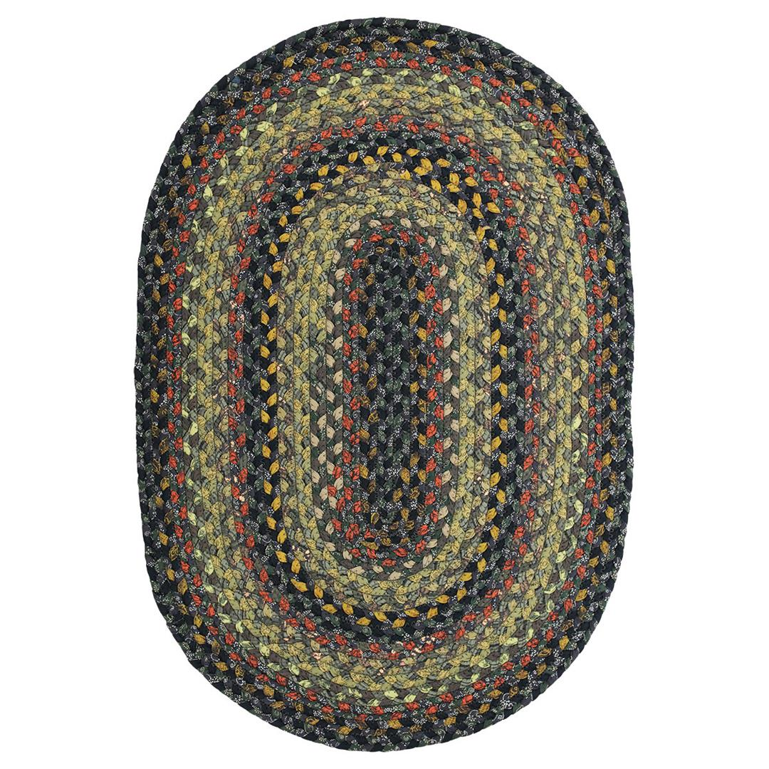Homespice Enigma Braided Oval Rug - (1 foot 8 inch x 2 foot 6 inch)