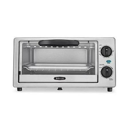 BELLA 4 Slice Countertop Toaster Oven, 1000 Watt Quartz Element