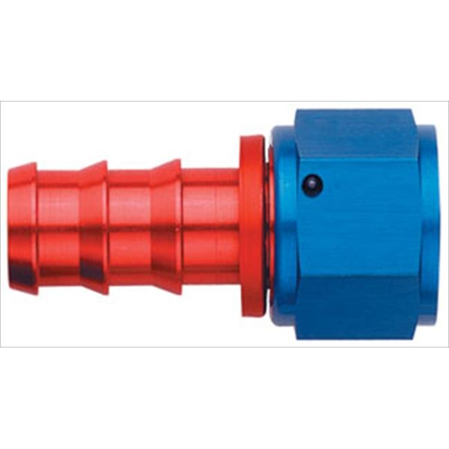 FCM1512 -6 An Straight Socketless Fitting, Red And Blue - image 1 of 1