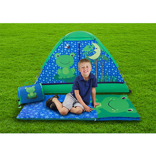 Kids 4-Piece Camping Combo with Carry Bag