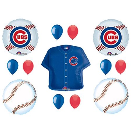 CHICAGO CUBS Happy Birthday Party Balloons Decoration Supplies Game Day