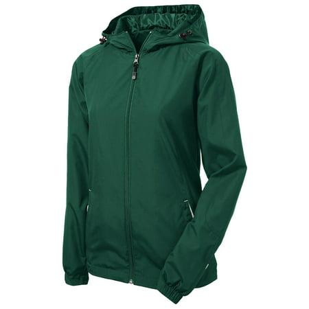 Sport-Tek Women's Colorblock Hooded Shell (Womens Soft Shell Jacket)