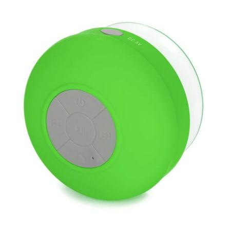 Center Link Media showerspeakergreen Large Shower Speaker, Green (Shower Head Speakers Bluetooth)