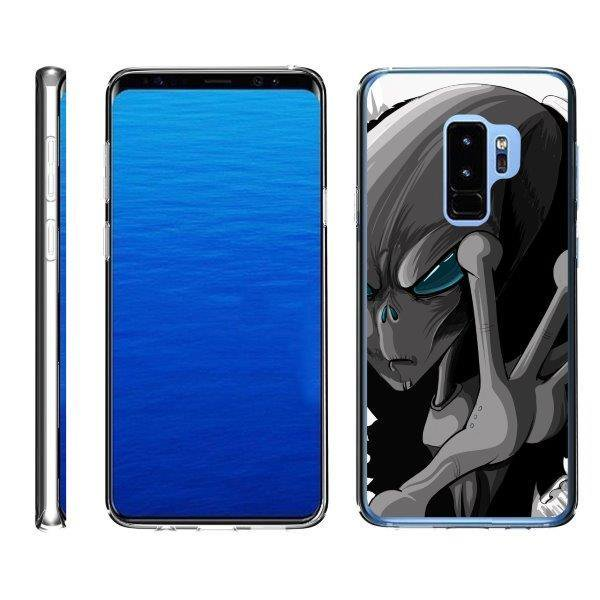 TurtleArmor ® | For Samsung Galaxy S9+ (Plus) G965 [Flexible Case] Slim Fitted TPU Case - Gray Alien