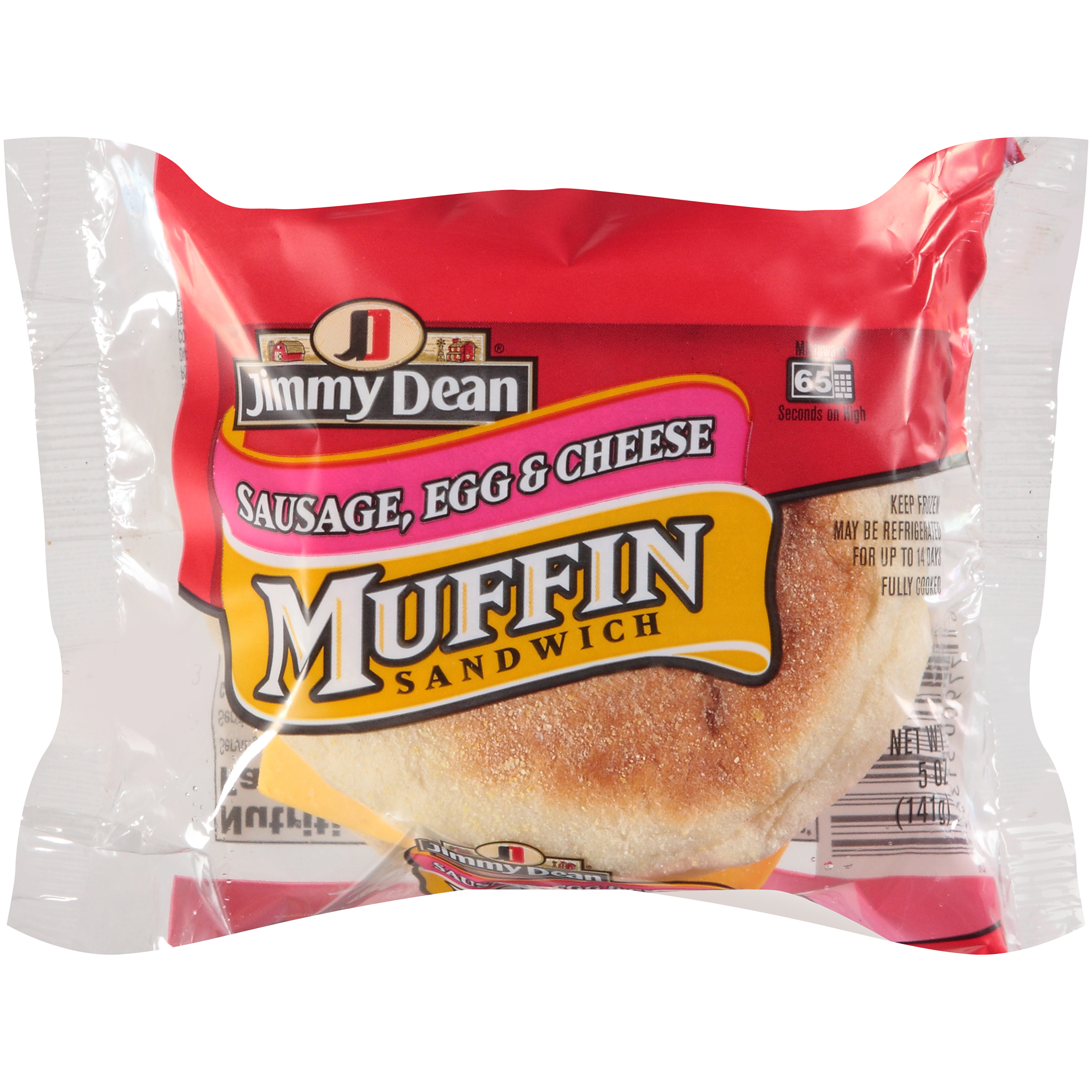 Jimmy Dean Sausage, Egg and Cheese Muffin Sandwich, 5 oz., 12 per case